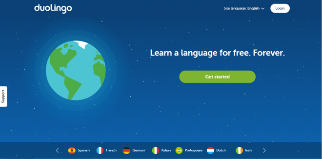 duolingo, start screen, good website, learning language site, learning spanish, learning france, learning german, free language learning, basic language learning